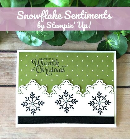 Stampin' Up! Snowflake Card Christmas - Peggy Noe - stampinup