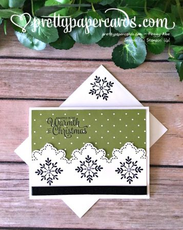 Stampin' Up! Snowflake Sentiments Christmas Card - Peggy Noe - stampinup