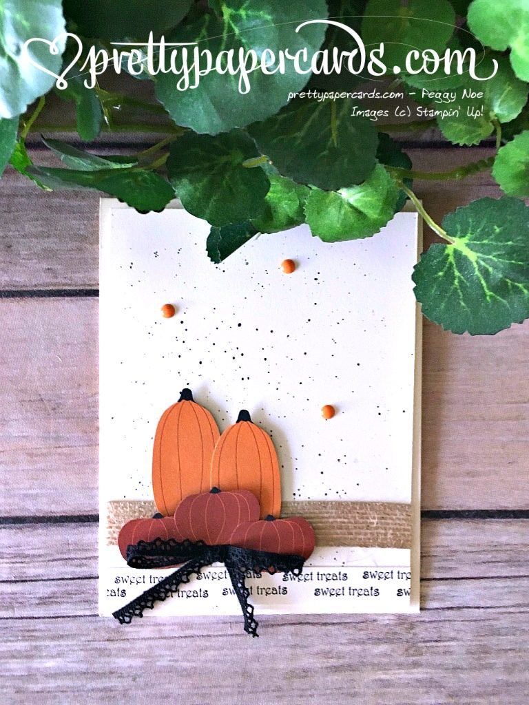 Stampin' Up! Teeny Weeny Wishes Pumpkin Card - Peggy Noe - stampinup
