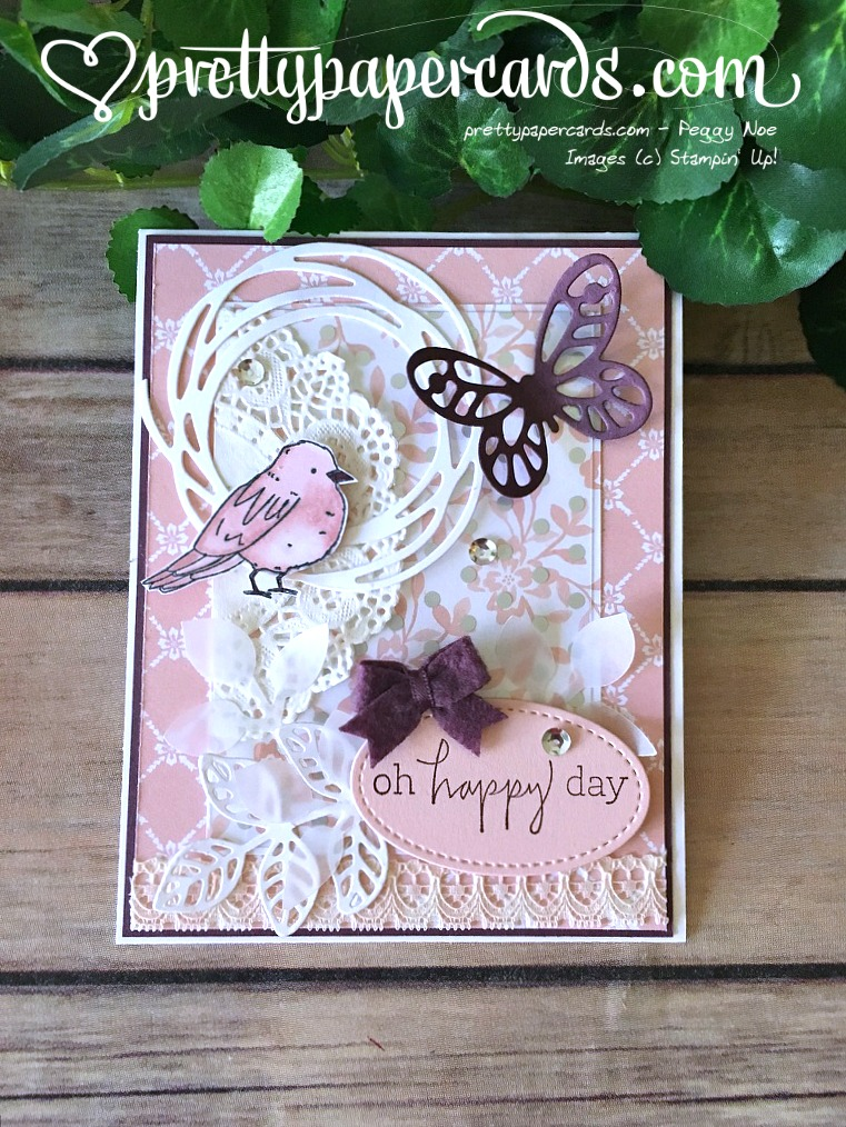 Stampin' Up! Birthday Card Happiest of Days - Peggy Noe - stampinup