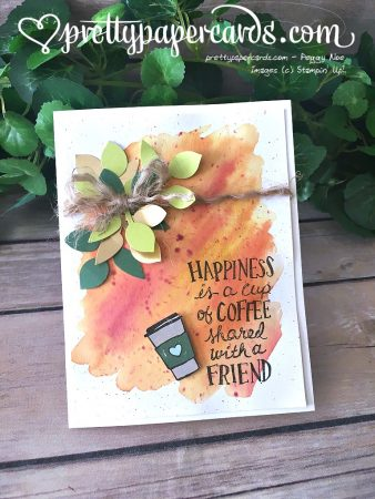 Stampin' Up! Coffee Cafe Friend Card - Peggy Noe - stampinup Tic Tac Toe Challenge