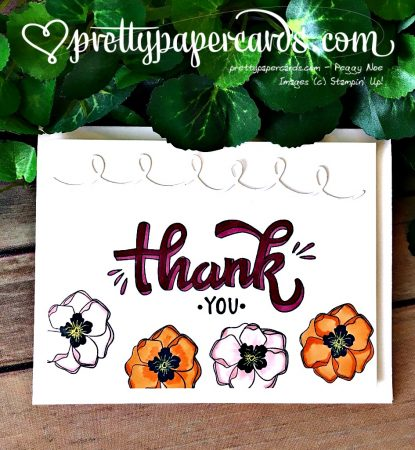 Stampin' Up! Color Me Happy Blends Thank You Card - Peggy Noe - stampinup