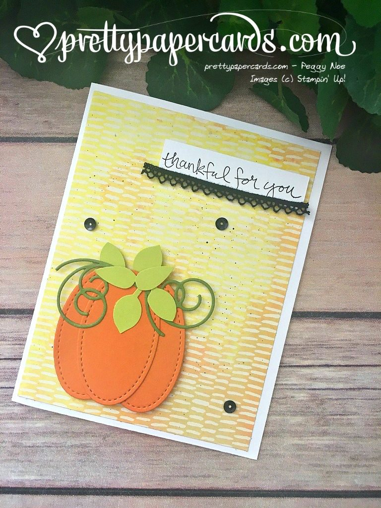 Stampin' Up! Fall Card - Peggy Noe - stampinup