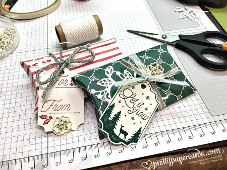 Stampin' Up! Holiday Pillowboxes Trim Your Stocking - Peggy Noe - stampinup