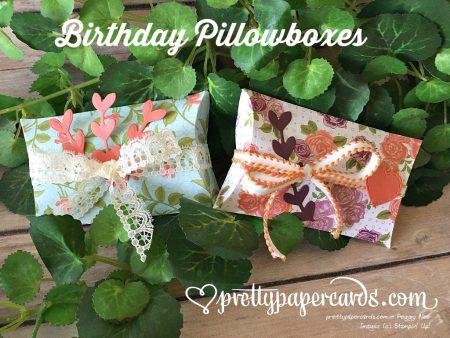 Stampin' Up! Petal Garden Pillowboxes - Peggy Noe - stampinup