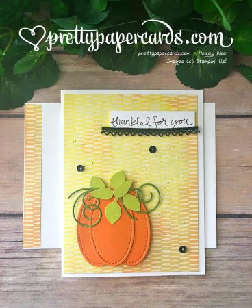 Stampin' Up! Sheltering Tree Pumpkin Card - Peggy Noe - stampinup