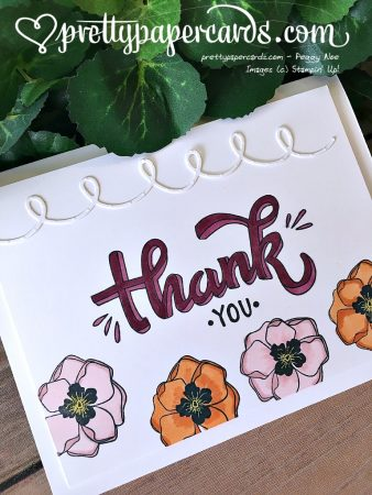 Stampin' Up! Thank You Card Color Me Happy - Peggy No - stampinup