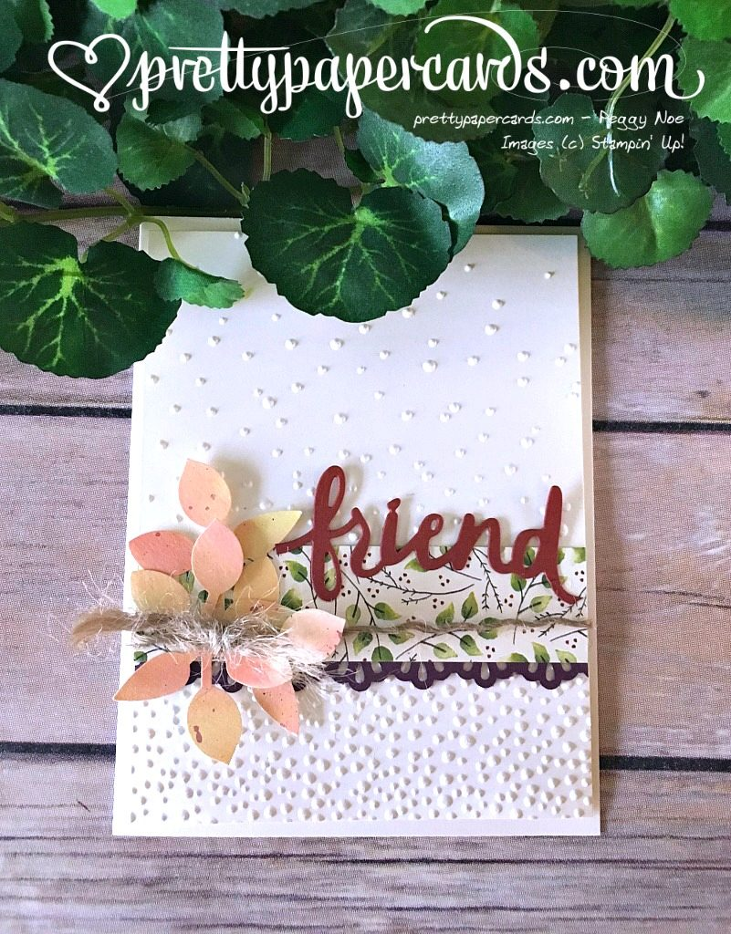 Prettypapercards Tic Tac Toe Friend Card with Fall Theme - Stampin' Up! stampinup
