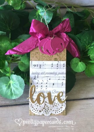 Stampin' Up! Berry Burst Gift Tag - Peggy Noe - stampinup