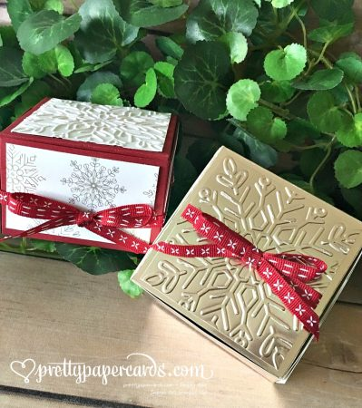 Stampin' Up! Champagne Foil Holiday Foil Gift Boxes - Prettypapercards - stampinup