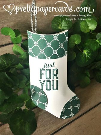 Stampin' Up! Christmas stocking - Peggy Noe - stampinup