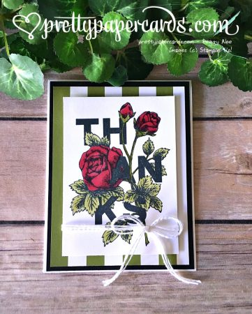 Stampin' Up! Floral Statements Thank You Card - Peggy Noe - stampinup