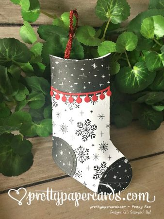 Stampin' Up! Prettypapercards Christmas stocking - Peggy Noe - stampinup