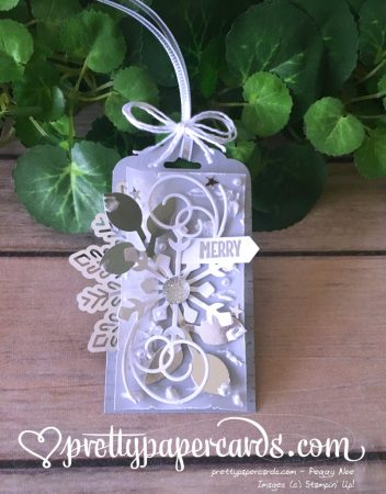 Stampin' Up! Snowflake Gift Tag - Peggy Noe - stampinup
