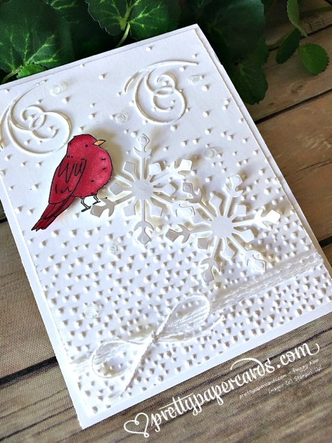 Pretty Paper Cards Stampin' Up! Cardinal Snow Card - Peggy Noe - stampinup