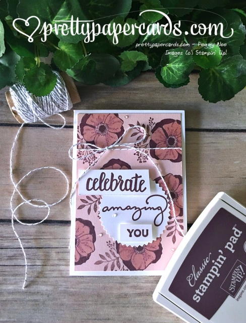 Prettypapercards Stampin' Up! Amazing You - Peggy Noe - stampinup