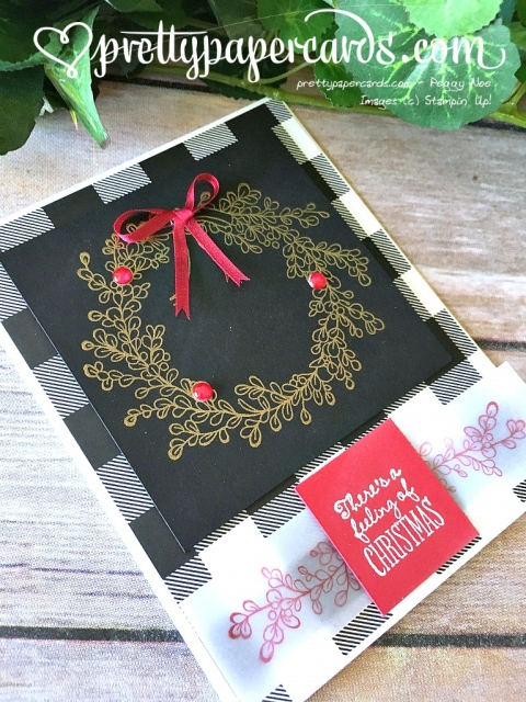 Prettypapercards - Stampin' Up! Christmas Wreath - Peggy Noe - stampinup
