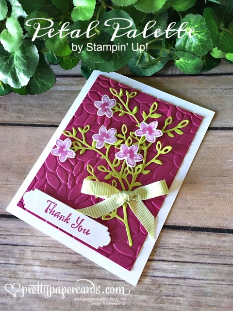 Prettypapercards - Stampin' Up! Thank You Card - Peggy Noe - stampinup