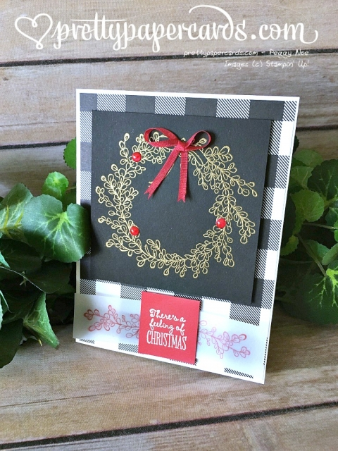 Stampin' Up! Feeling of Christmas Tic Tac Toe Challenge - Peggy Noe Pretty Paper Cards - stampinup