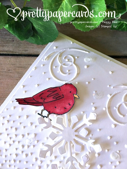 Stampin' Up! Oh Happy Day Cardinal Card - Peggy Noe Pretty Paper Cards - stampinup
