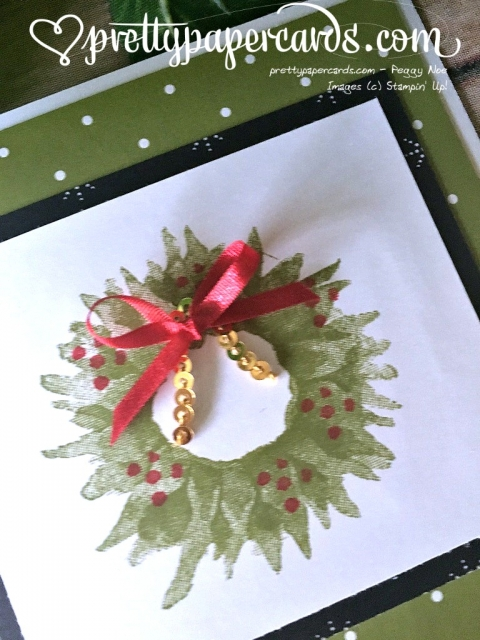 Stampin' Up! Painted Harvest Wreath Card - Peggy Noe - stampinup