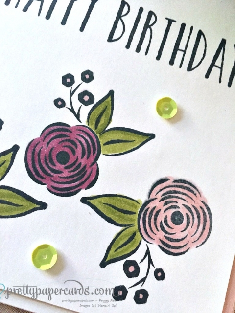 Stampin' Up! Perennial Birthday Flowers - Peggy Noe - stampinup