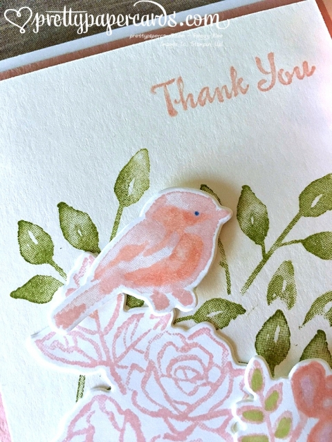 Stampin' Up! Petal Passion Bird Thank Up - Peggy Noe - stampinup