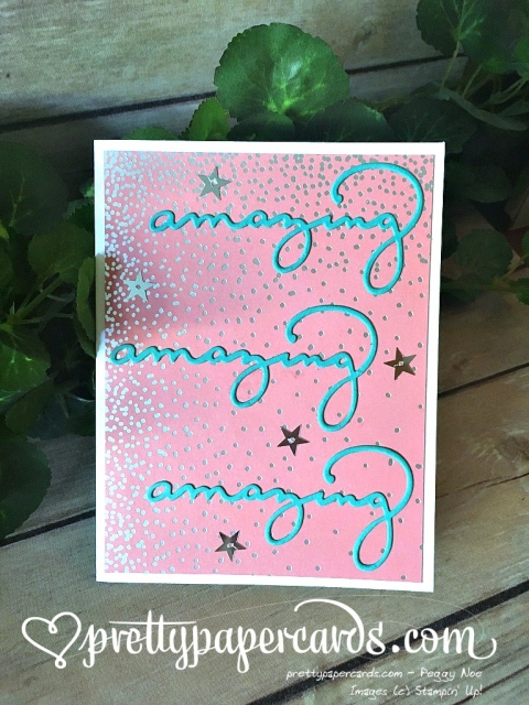 Stampin' Up! Celebrate You Thinlits Amazing - Peggy Noe - stampinup