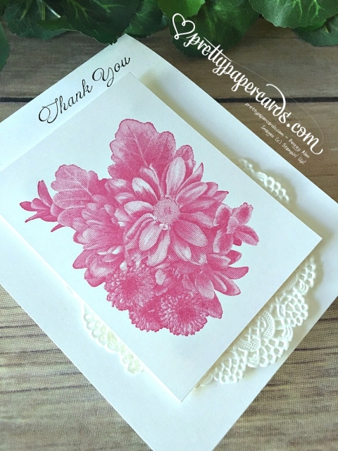Stampin' Up! Heartfelt Blooms Thank You Card - Peggy Noe - stampinup