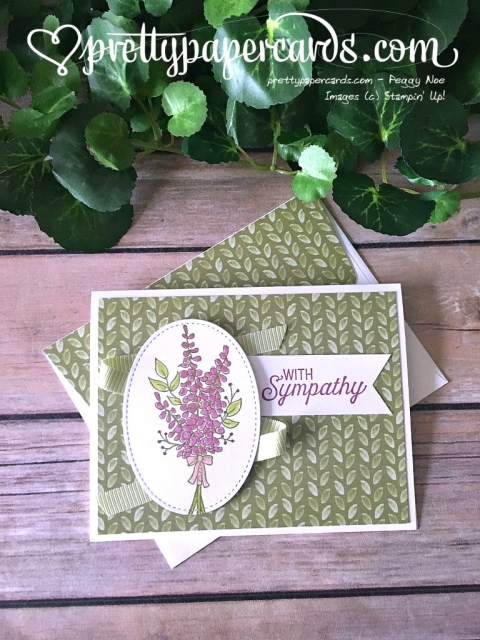 Stampin' Up! Lavender Sympathy - Prettypapercards - stampinup