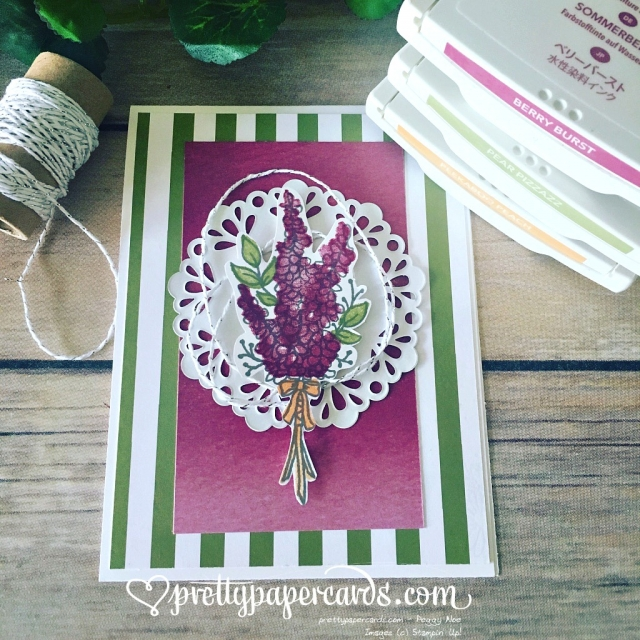 Stampin' Up! Lots of Lavender Doily Card - Peggy Noe - stampinup