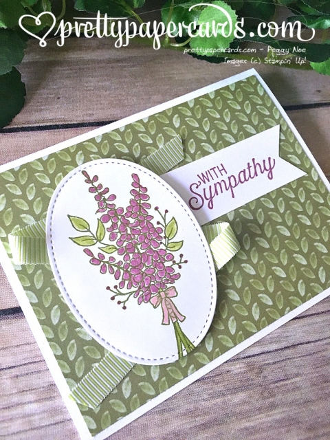 Stampin' Up! Lots of Lavender Sympathy Card - Prettypapercards - stampinup
