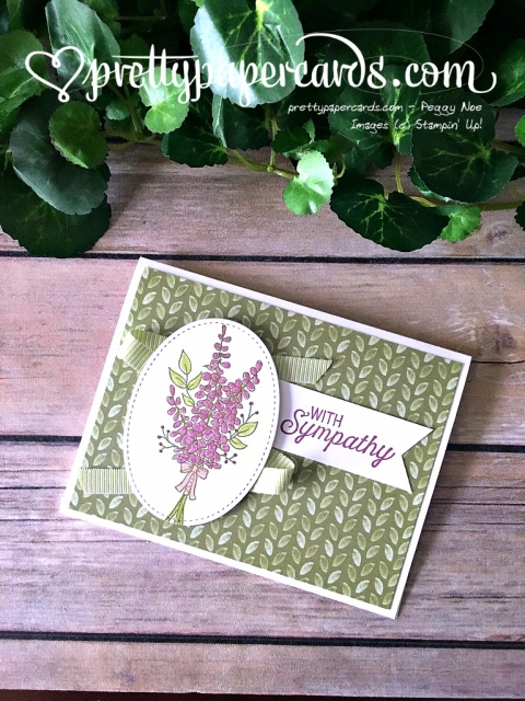 Stampin' Up! Lots of Lavender Sympathy - Prettypapercards - stampinup