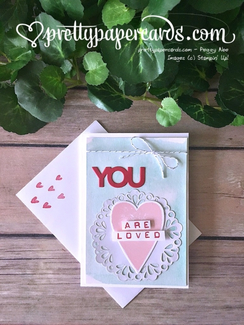 Stampin' Up! Pals Blog Hop Sure Do Love You - Peggy Noe - stampinup