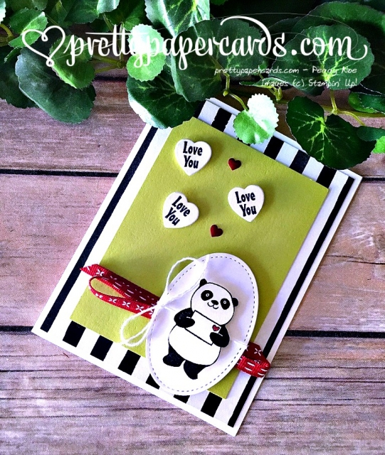 Stampin' Up! Party Pandas Valentine - Peggy Noe - stampinup