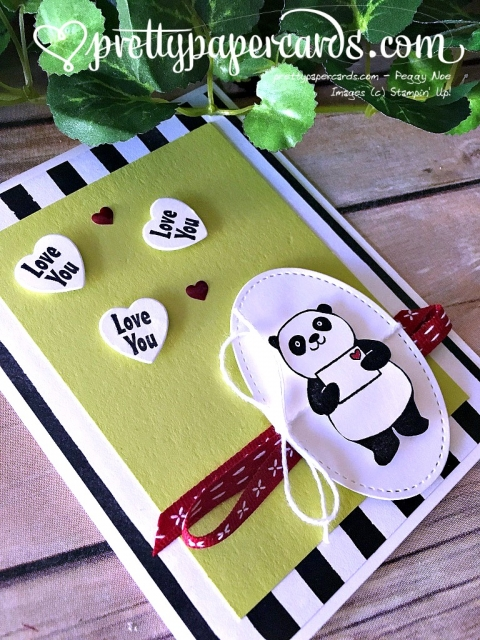 Stampin' Up! Party Pandas Valentine - Prettypapercards - stampinup