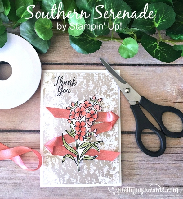 Stampin' Up! Southern Serenade Card - Peggy Noe - stampinup