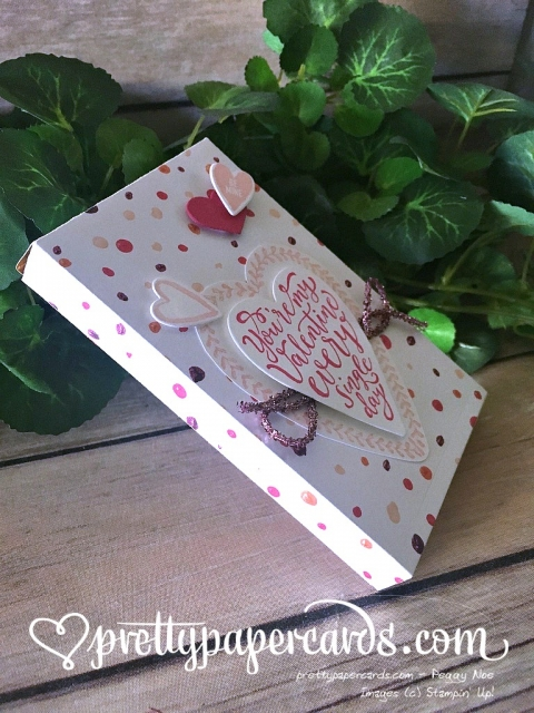 Stampin' Up! Sure Do Love You Valentine Box - Peggy Noe - stampinup
