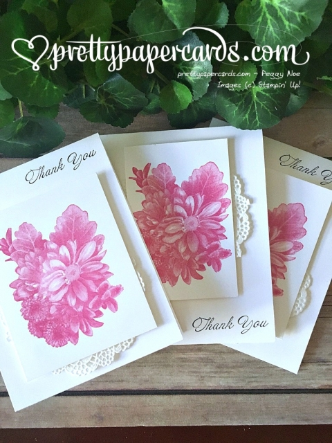 Stampin' Up! Thank You Card Heartfelt Blooms - Prettypapercards - stampinup