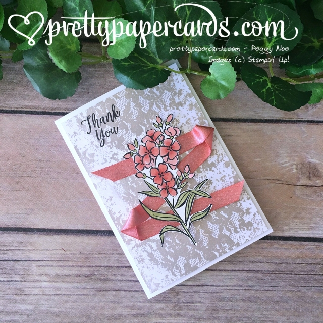 Stampin' Up! Thank You Card Southern Serenade - Peggy Noe - stampinup
