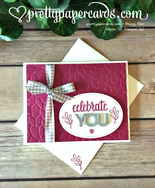 Stampin' Up! Amazing You - Peggy Noe - stampinup