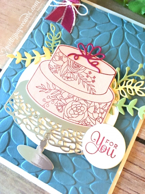 Stampin' Up! Birthday Cake Card - Prettypapercards - stampinup