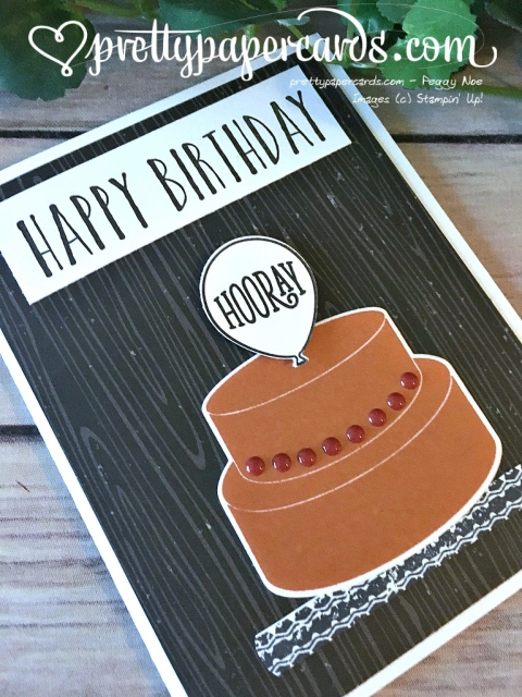 Stampin' Up! Cake Soiree Birthday Card - Peggy Noe - stampinup