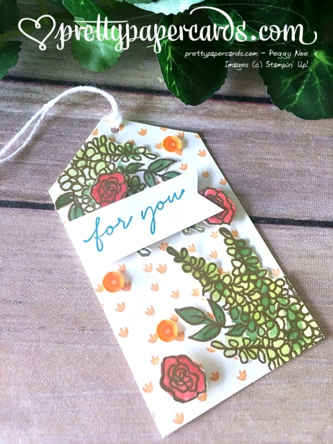Stampin' Up! For You Tag - Peggy Noe - stampinup