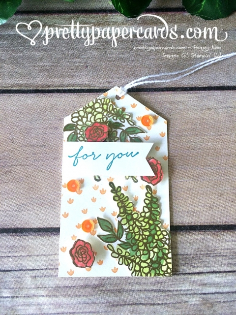 Stampin' Up! Lots of Lavender Tag For You - Peggy Noe - stampinup