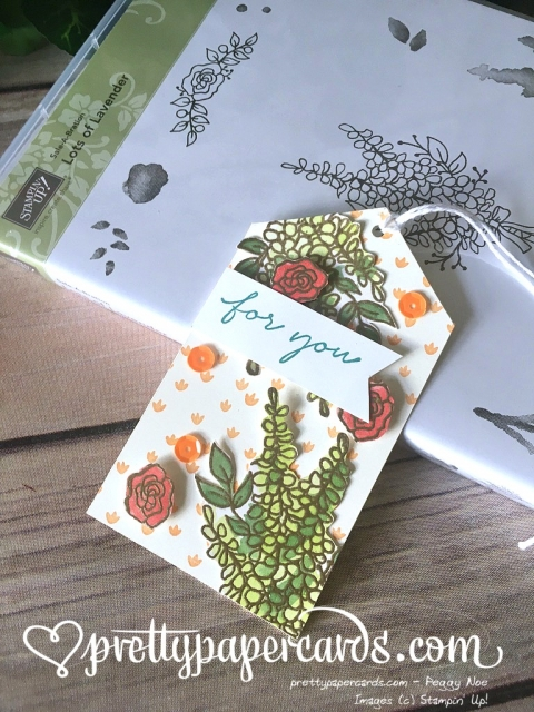 Stampin' Up! Lots of Lavender Tag - Peggy Noe - stampinup