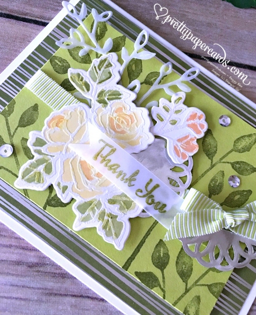 Stampin' Up! Petal Palette Thank You Card - Peggy Noe - stampinup
