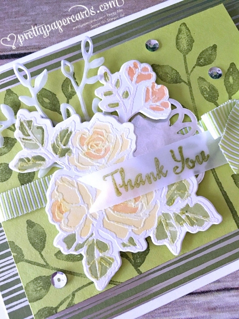 Stampin' Up! Petal Palette Thank You Card - Prettypapercards - stampinup