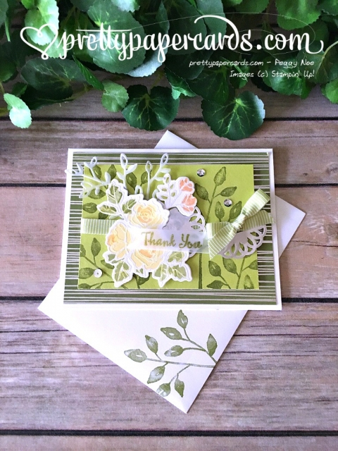 Stampin' Up! Petal Palette Thank You - Peggy Noe - stampinup