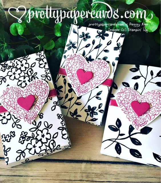 Stampin' Up! Valentine Treat Boxes - Peggy Noe - stampinup